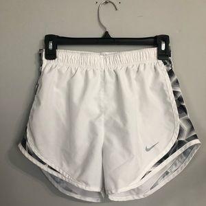 Nike dri-fit white detailed shorts size S